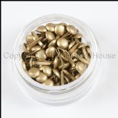 The Hobby House Mini Round Brads - Pearlescent Gold - HHMB021